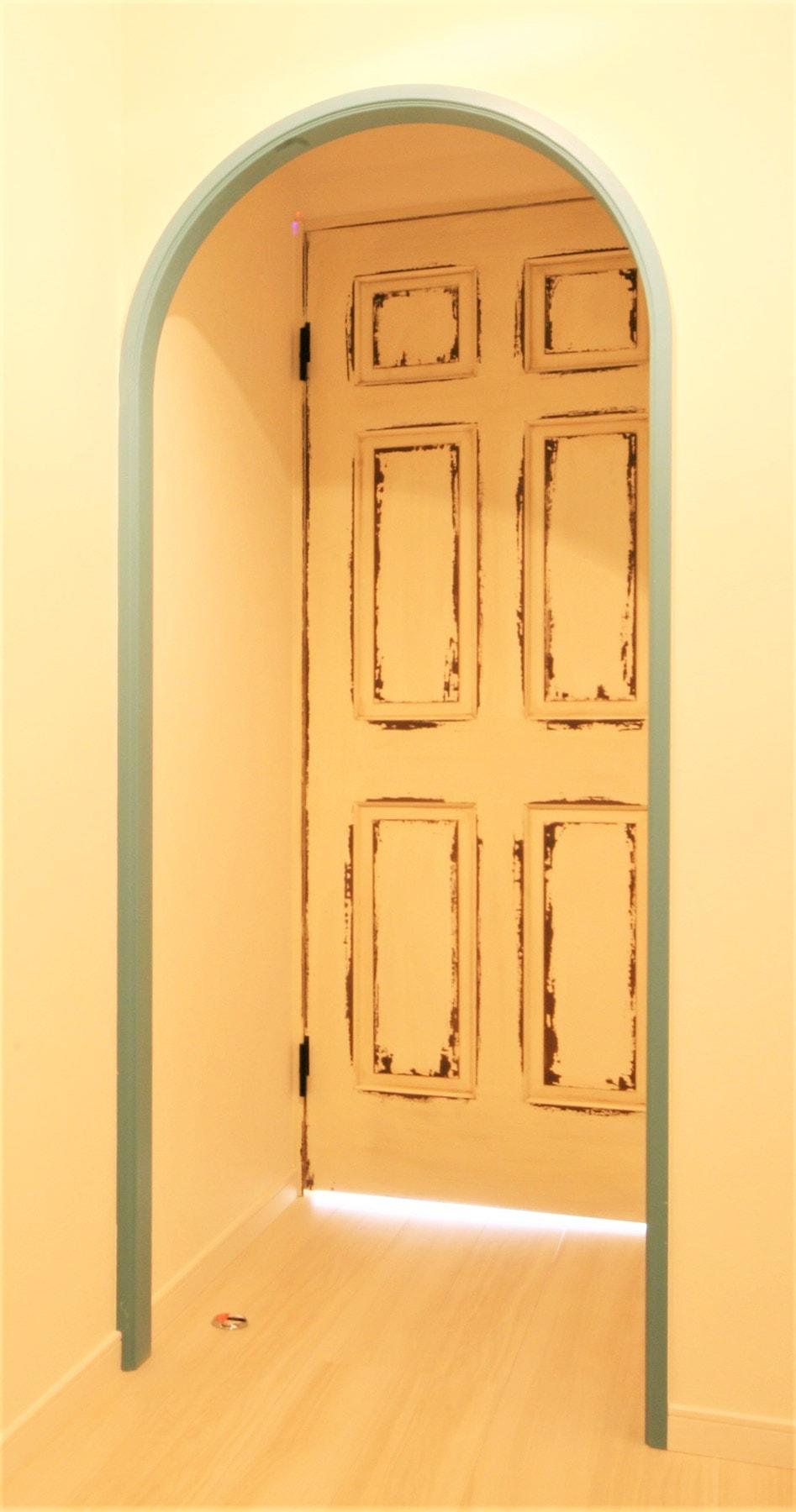 ~ワンちゃん部屋プラン例~ アールの壁(塗装有)・ドア(同一タイプ) 工事費40万 ※ペット可物件のみ