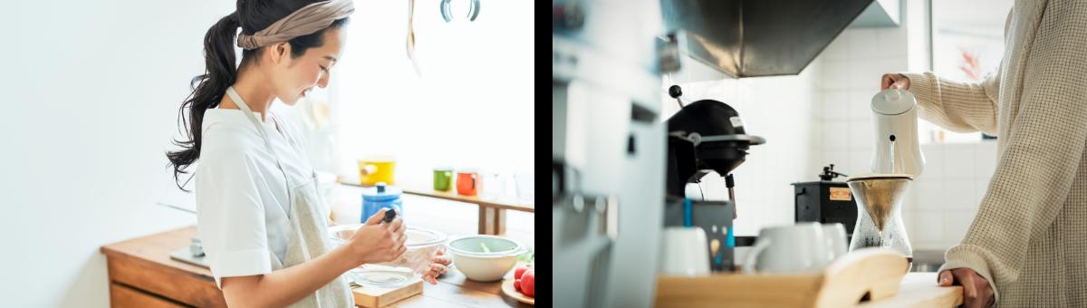 女性 キッチン デザインリノベ