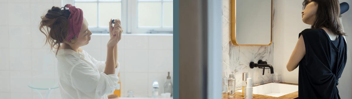 洗面 バスルーム 女性