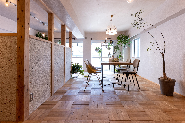 壁のデザイン◆植物と一緒に暮らすリノベーション◆