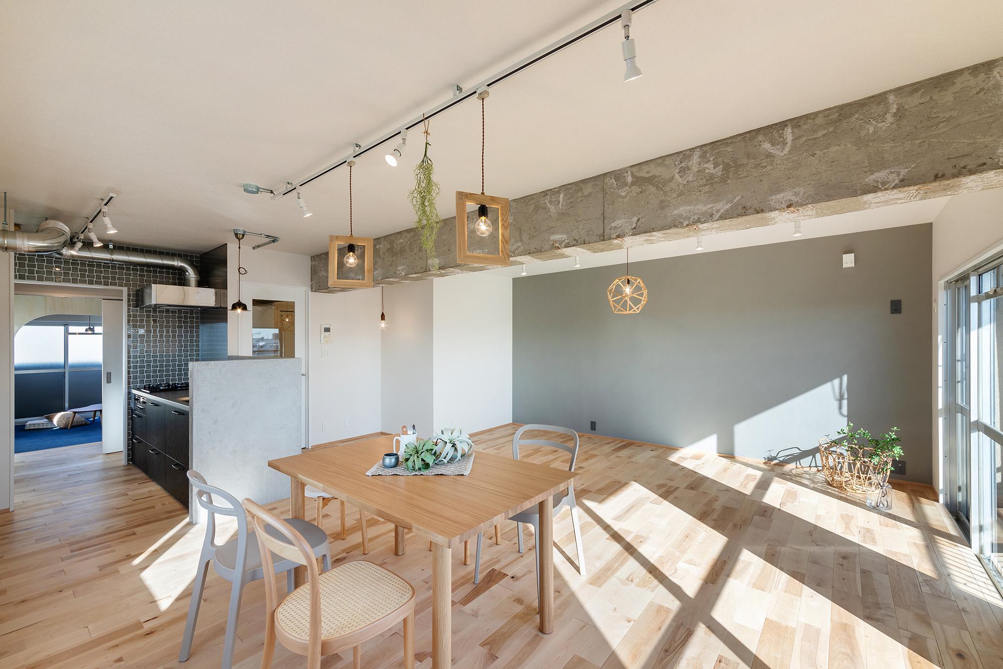 光と風が通るナチュラルな家、ゆとりある空間の1SLDK